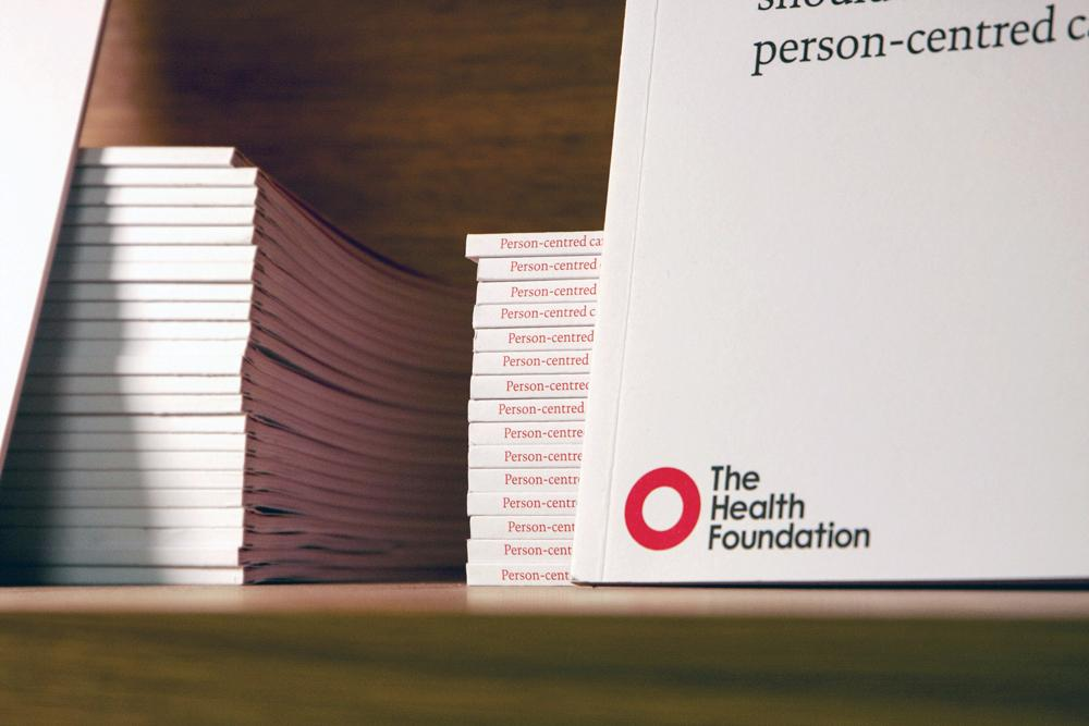 A stack of Health Foundation quick guides